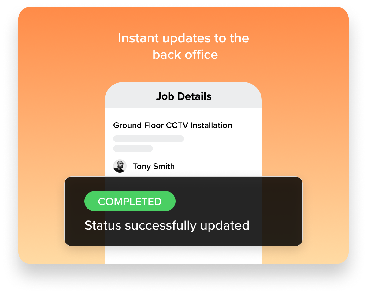 A visual guide to Workever's Job Status Update feature