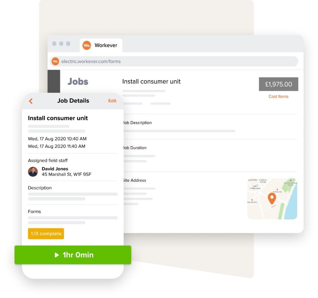 Job web and mobile