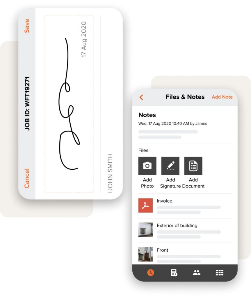 customer signature and files and notes 2x