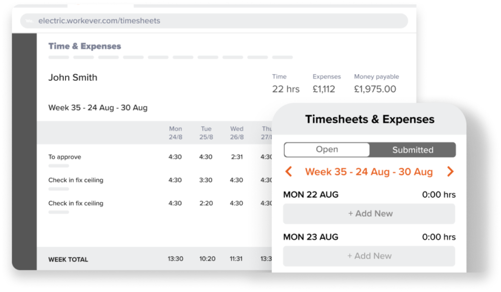 New Feature: Timesheets & Expenses Workever