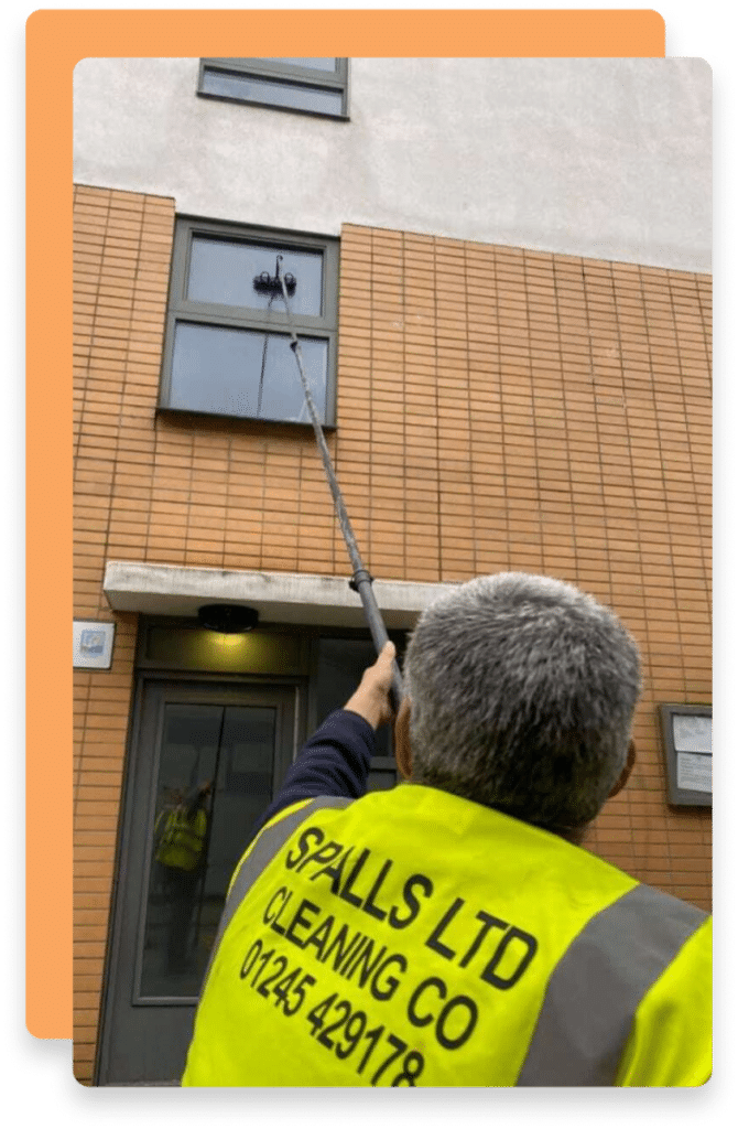 A Spalls Clean Ltd Field Service Engineer working on site