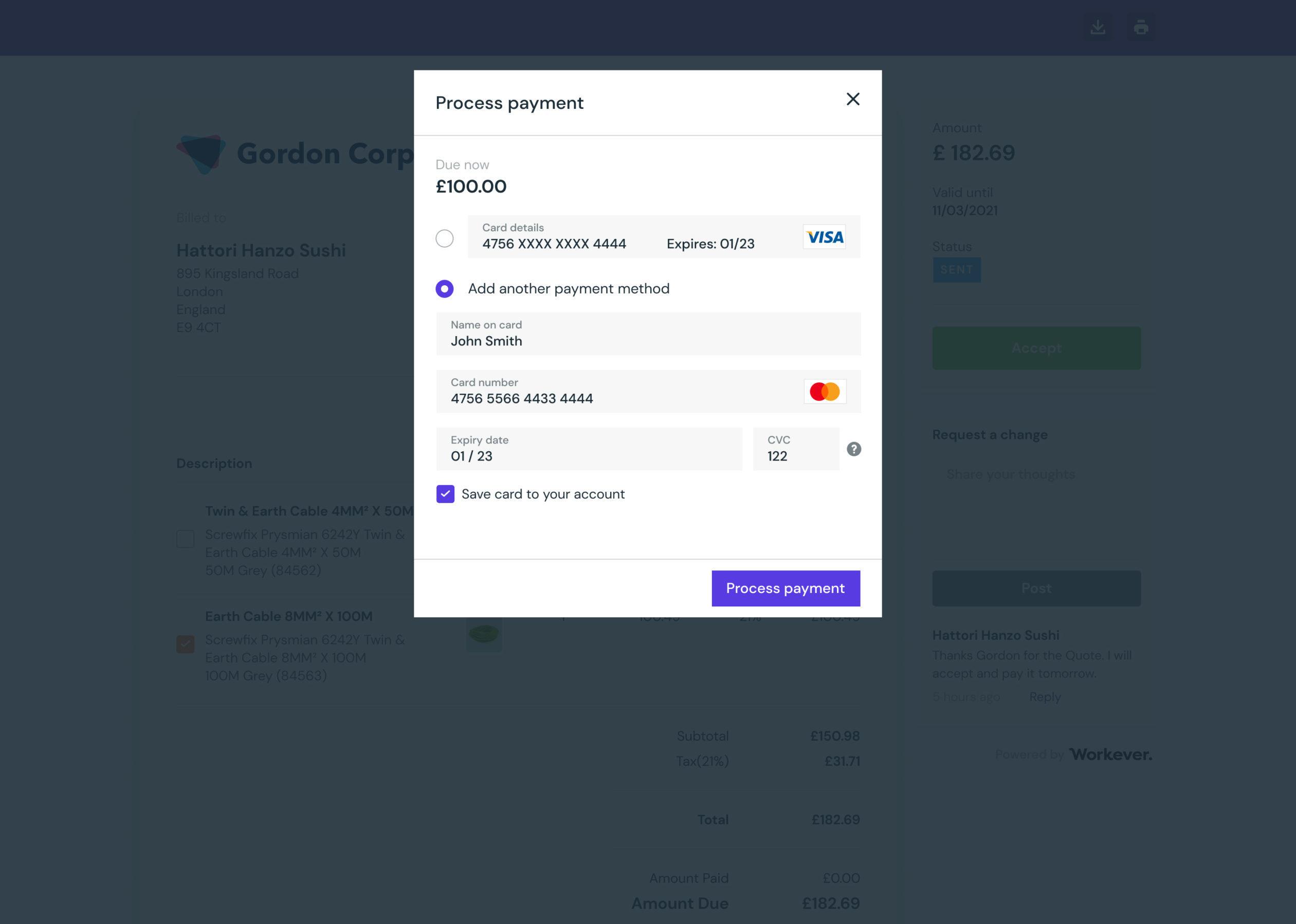 Customer Portal Workever